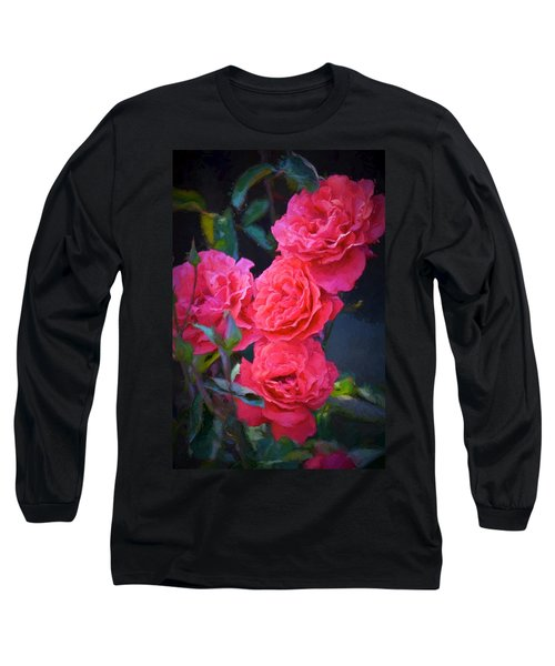 Rose 138 Long Sleeve T-Shirt by Pamela Cooper