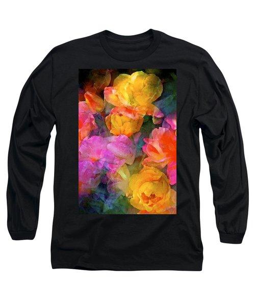 Rose 224 Long Sleeve T-Shirt by Pamela Cooper