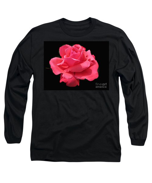 Long Sleeve T-Shirt featuring the photograph Rose Is A Rose by Judy Palkimas