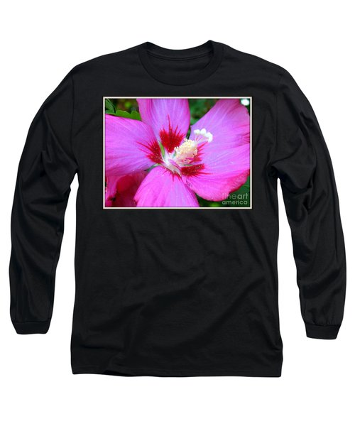 Long Sleeve T-Shirt featuring the photograph Rose Of Sharon Hibiscus by Patti Whitten