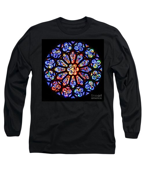 Rose Window Of Grace Cathedral By Diana Sainz Long Sleeve T-Shirt