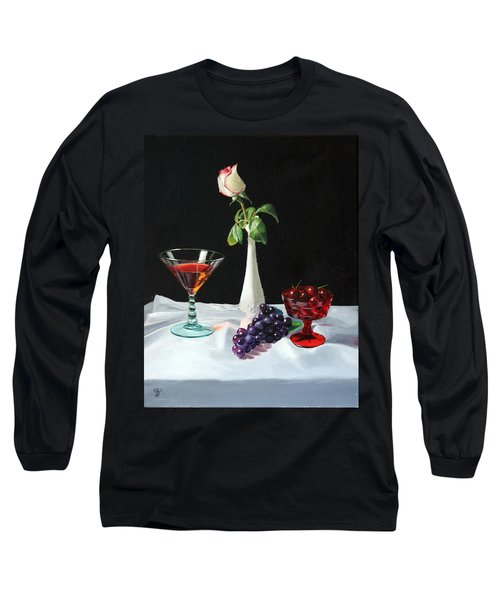 Rose Wine And Fruit Long Sleeve T-Shirt