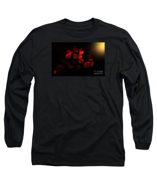 Roses And Black Long Sleeve T-Shirt
