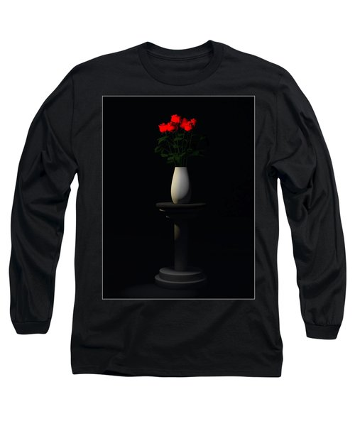 Long Sleeve T-Shirt featuring the digital art Roses For Sk... by Tim Fillingim