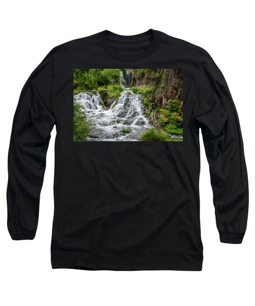 Roughlock Falls South Dakota Long Sleeve T-Shirt