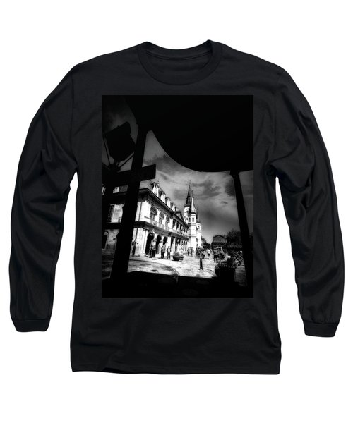 Round Corner Long Sleeve T-Shirt by Robert McCubbin