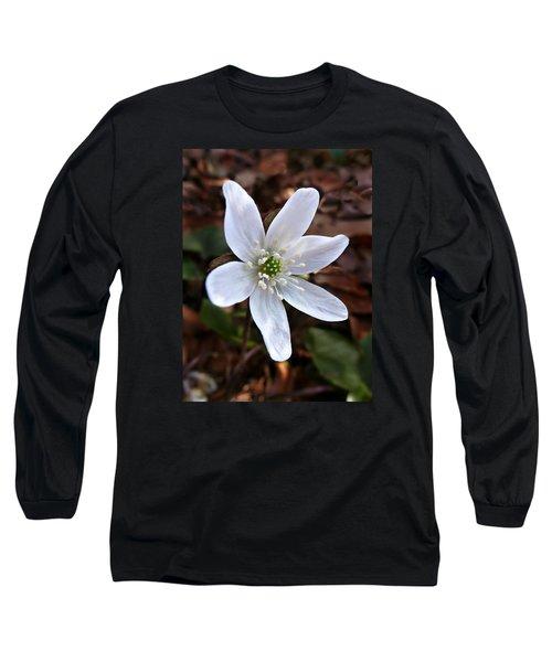 Wild Round-lobe Hepatica Long Sleeve T-Shirt