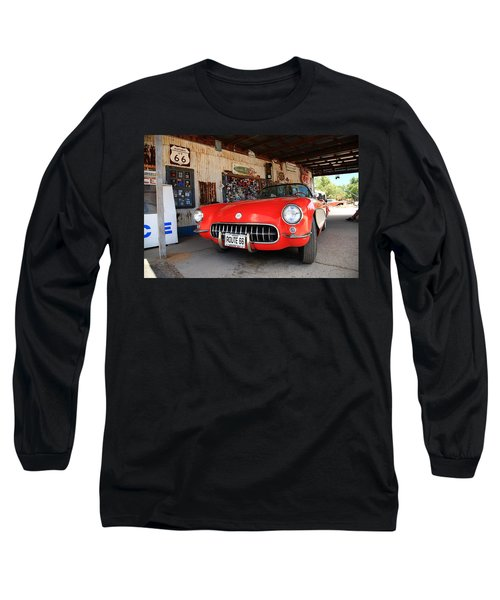 Route 66 Corvette Long Sleeve T-Shirt