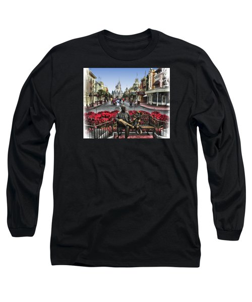 Roy And Minnie Mouse Walt Disney World Long Sleeve T-Shirt by Thomas Woolworth