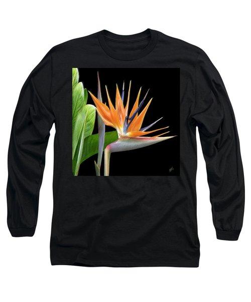 Royal Beauty I - Bird Of Paradise Long Sleeve T-Shirt
