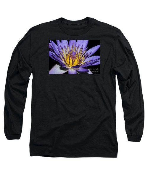Royal Purple Water Lily #5 Long Sleeve T-Shirt by Judy Whitton