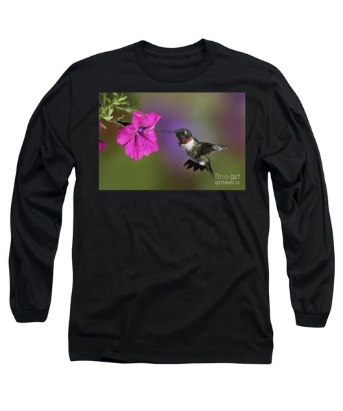 Ruby-throated Hummingbird - D004190 Long Sleeve T-Shirt
