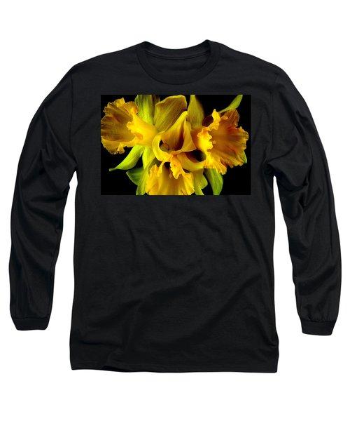 Ruffled Daffodils Long Sleeve T-Shirt