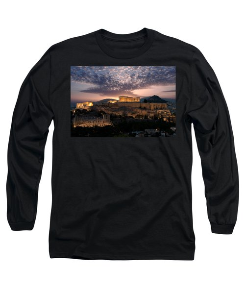 Ruins Of A Temple, Athens, Attica Long Sleeve T-Shirt