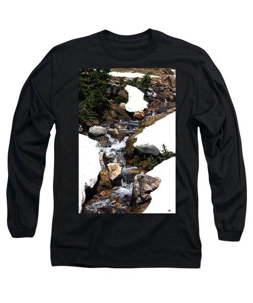 Running Down The Mountain Long Sleeve T-Shirt
