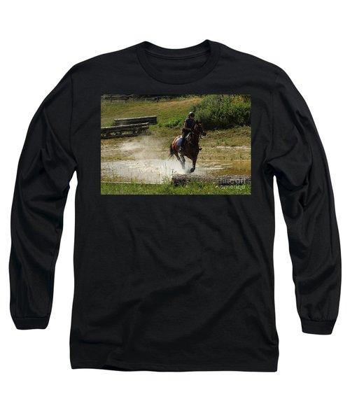 Running Thru Water  Long Sleeve T-Shirt