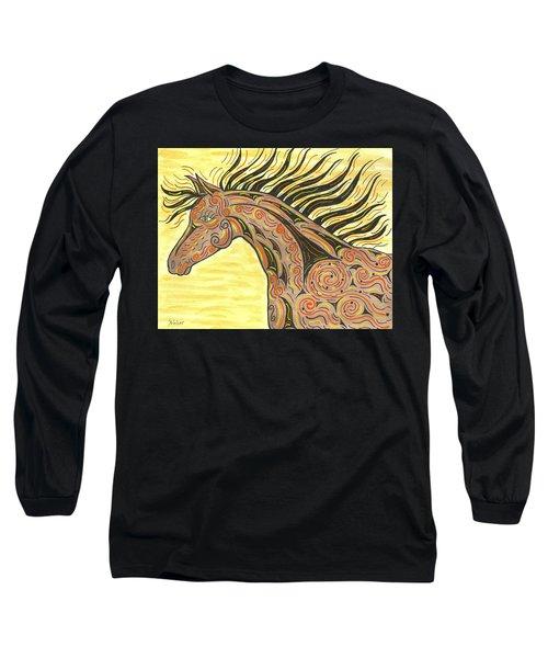 Running Wild Horse Long Sleeve T-Shirt