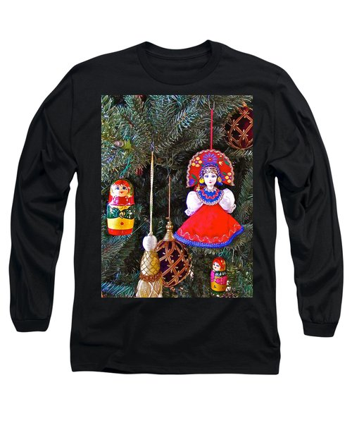 Russian Christmas Tree Decoration In Fredrick Meijer Gardens And Sculpture Park In Grand Rapids-mi Long Sleeve T-Shirt