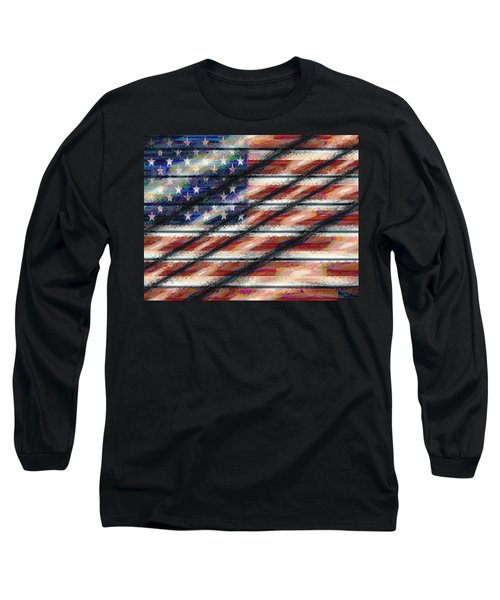 Rustic Usa Long Sleeve T-Shirt