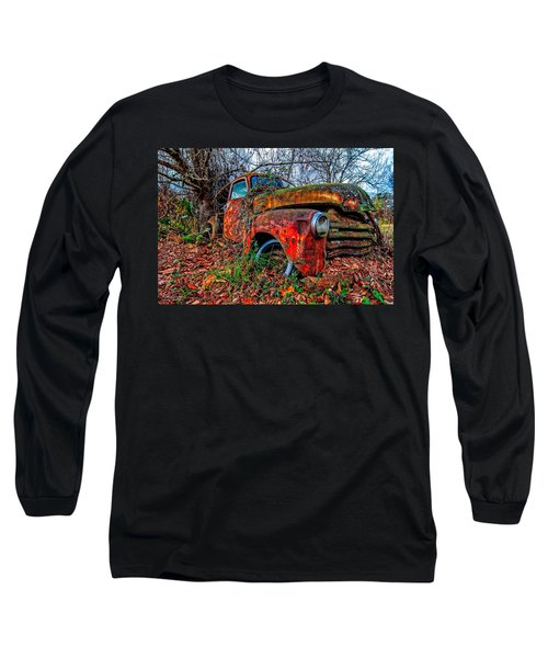 Long Sleeve T-Shirt featuring the photograph Rusty 1950 Chevrolet by Andy Crawford