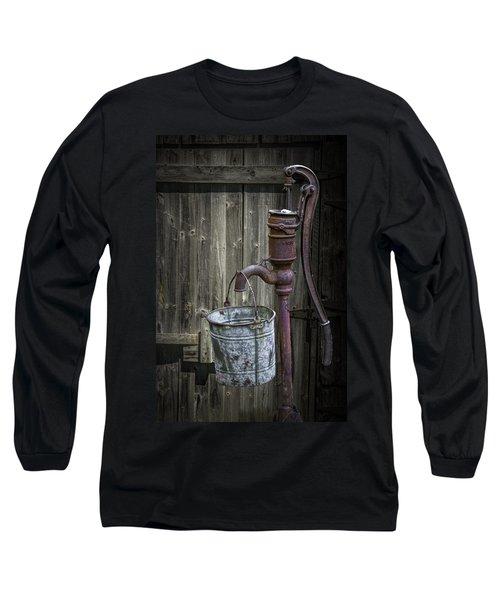 Rusty Hand Water Pump Long Sleeve T-Shirt