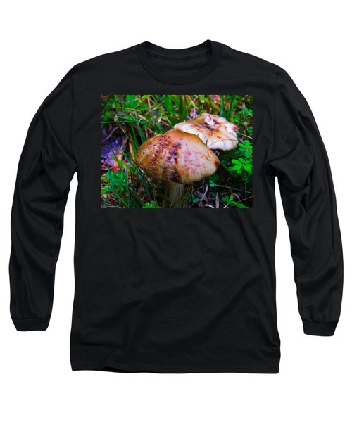 Rusty Mushroom Long Sleeve T-Shirt by Nick Kirby