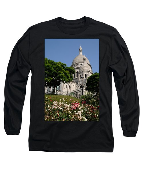 Sacre Coeur Flowers Long Sleeve T-Shirt by Jeremy Voisey