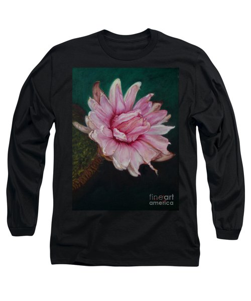 Sacred Red Lotus Long Sleeve T-Shirt by Mukta Gupta