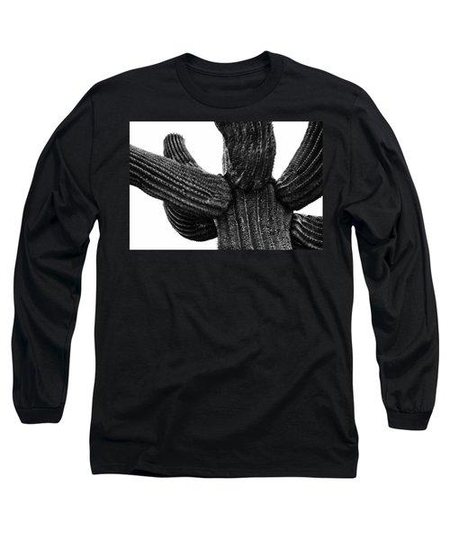 Saguaro Cactus Black And White 3 Long Sleeve T-Shirt