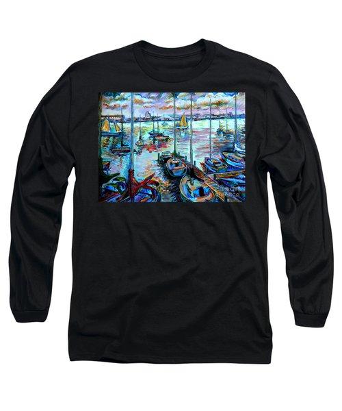 Sailboat Harbor Long Sleeve T-Shirt