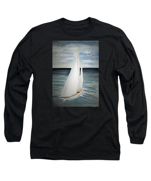 Sailing Long Sleeve T-Shirt by Elvira Ingram