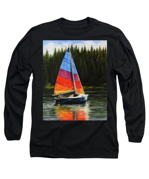 Sailing On Flathead Long Sleeve T-Shirt