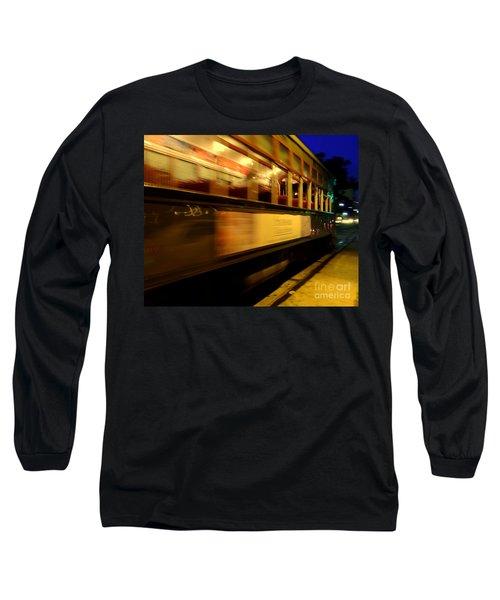 New Orleans Saint Charles Avenue Street Car In  Louisiana #7 Long Sleeve T-Shirt by Michael Hoard