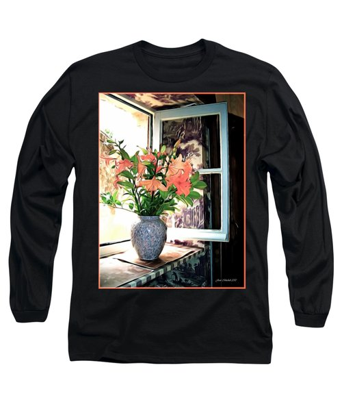 Saint Emilion Window Long Sleeve T-Shirt by Joan  Minchak