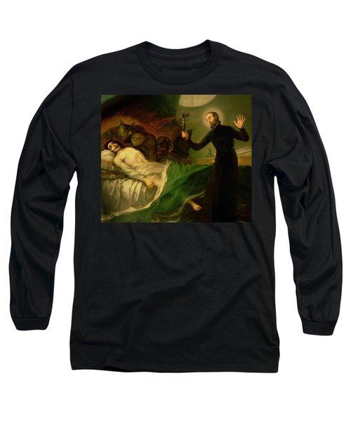 Saint Francis Borgia Helping A Dying Impenitent Long Sleeve T-Shirt