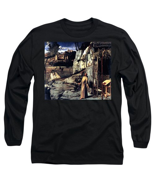 Long Sleeve T-Shirt featuring the painting Saint Francis In Ecstasy 1485 Giovanni Bellini by Karon Melillo DeVega