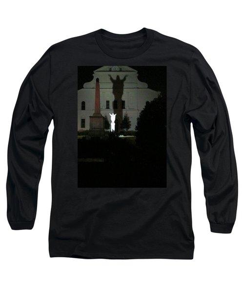 Saint Louis Cathedral Courtyard - New Orleans La Long Sleeve T-Shirt by Deborah Lacoste