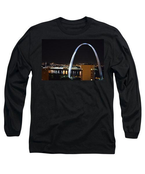 Long Sleeve T-Shirt featuring the photograph Saint Louis Skyline And Jefferson Expansion Arch by Jeff at JSJ Photography