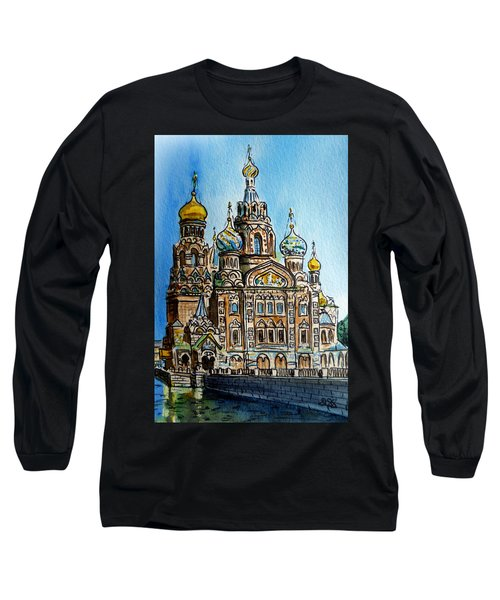 Saint Petersburg Russia The Church Of Our Savior On The Spilled Blood Long Sleeve T-Shirt