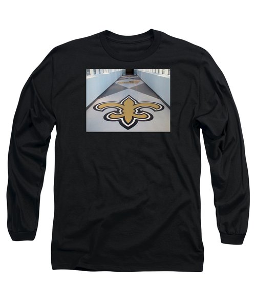 Saints Are Coming - Benson Towers - New Orleans La Long Sleeve T-Shirt by Deborah Lacoste