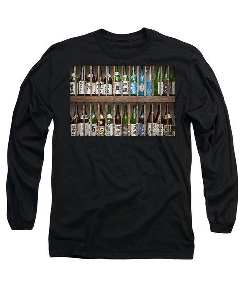 Sake Bottles Long Sleeve T-Shirt