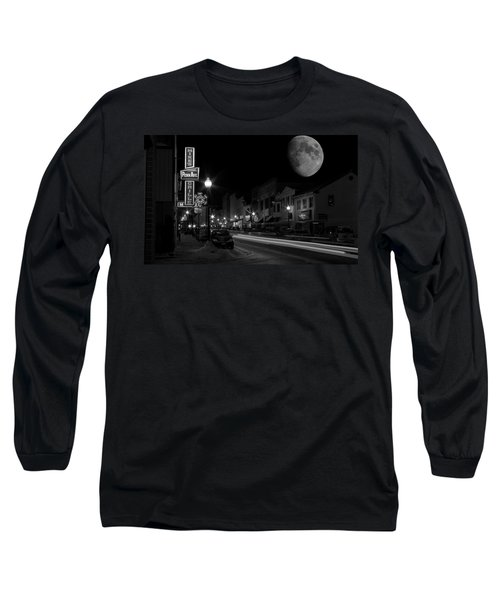 Salem Ohio Winter Moon Long Sleeve T-Shirt