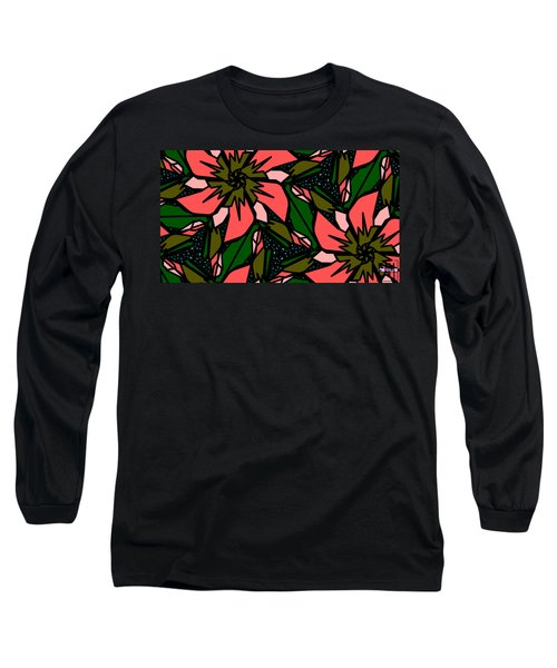 Long Sleeve T-Shirt featuring the digital art Salmon-pink by Elizabeth McTaggart