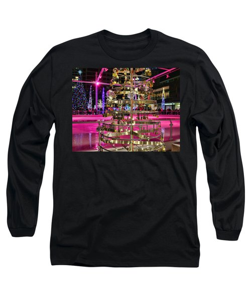 Long Sleeve T-Shirt featuring the photograph Salt Lake City - Skating Rink - 1 by Ely Arsha