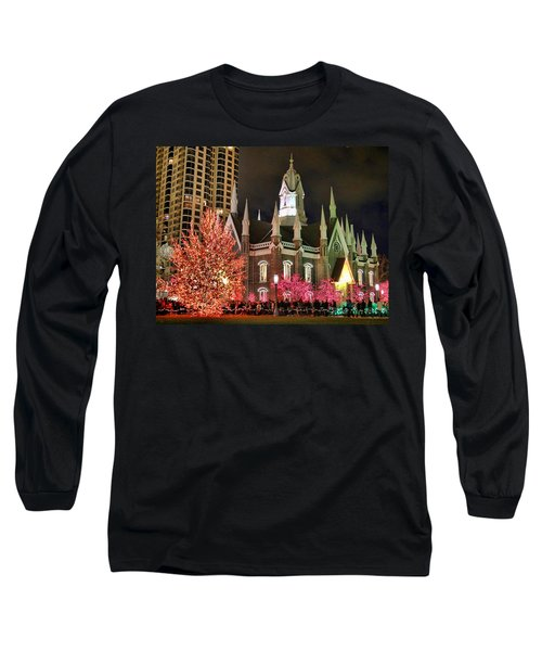 Long Sleeve T-Shirt featuring the photograph Salt Lake Temple - 3 by Ely Arsha