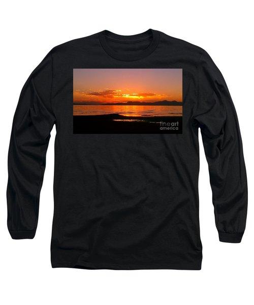Salt Lakes A Fire Long Sleeve T-Shirt by Chris Tarpening