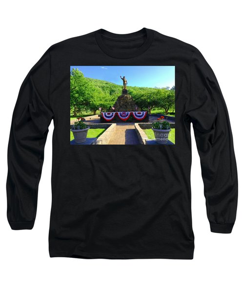 Long Sleeve T-Shirt featuring the photograph Salute To Our Hero's  by Becky Lupe