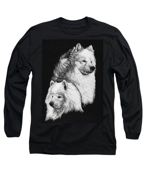 Samoyed Long Sleeve T-Shirt by Rachel Hames