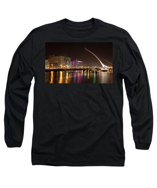 Samuel Beckett Bridge In Dublin City Long Sleeve T-Shirt by Semmick Photo