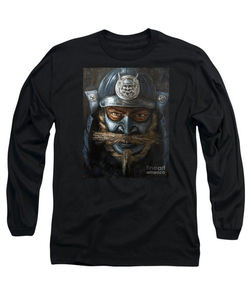 Samurai Long Sleeve T-Shirt by Arturas Slapsys